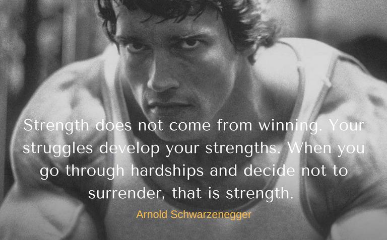 Trader's mindset Arnold Schwarzenegger